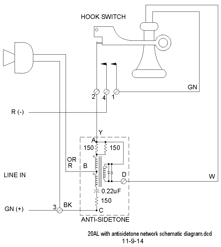 Candlestick Telephone Wiring Diagram : Western electric wiring diagram get free image about